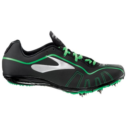 Brooks Qw-k Track and Field Shoe - Black/Brooks Bright Green 12.5