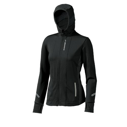 Womens Brooks Utopia Thermal Hoodie II Outerwear Jackets - Black XS