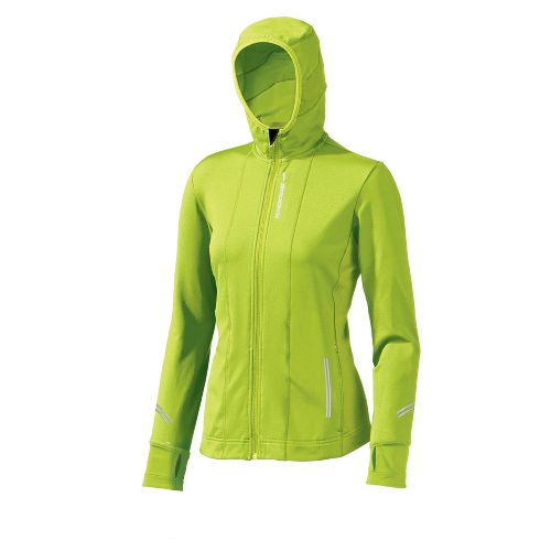 Womens Brooks Utopia Thermal Hoodie II Outerwear Jackets - Citron XL