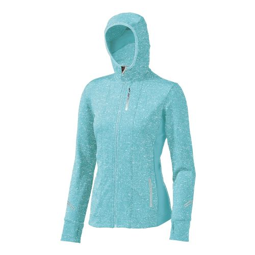 Womens Brooks Utopia Thermal Hoodie II Outerwear Jackets - Helium M