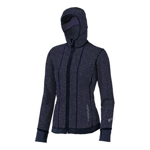 Womens Brooks Utopia Thermal Hoodie II Outerwear Jackets - Midnight M