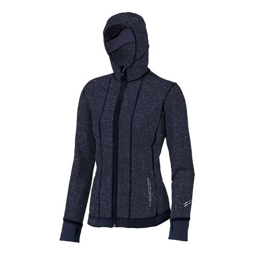 Womens Brooks Utopia Thermal Hoodie II Outerwear Jackets - Midnight XL