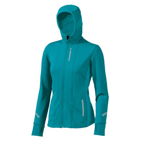 Womens Brooks Utopia Thermal Hoodie II Outerwear Jackets - Tourmaline XS