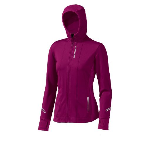 Womens Brooks Utopia Thermal Hoodie II Outerwear Jackets - Vino XL