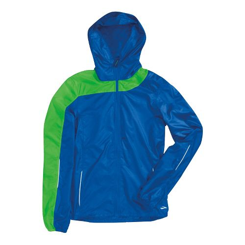 Womens Brooks LSD Lite III Running Jackets - Electric/Lime S