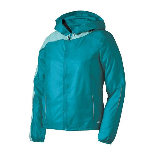 Womens Brooks LSD Lite III Running Jackets - Tourmaline/Tropic M