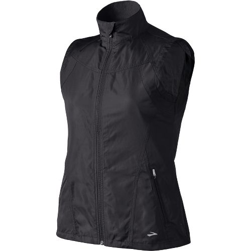 Womens Brooks Essential Run II Outerwear Vests - Black S