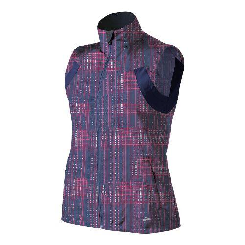 Womens Brooks Essential Run II Outerwear Vests - Midnight Hatch/Midnight M