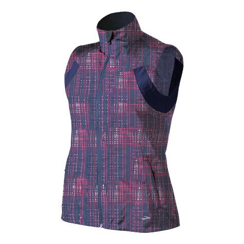 Womens Brooks Essential Run II Outerwear Vests - Midnight Hatch/Midnight S