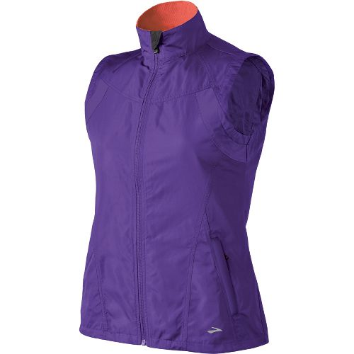Womens Brooks Essential Run II Outerwear Vests - Royal Purple XL