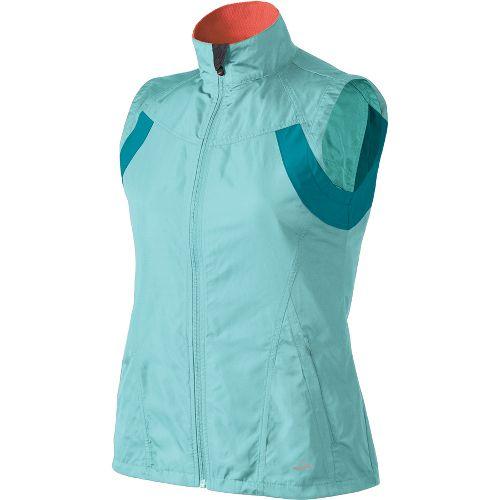 Womens Brooks Essential Run II Outerwear Vests - Tropic/Tourmaline L