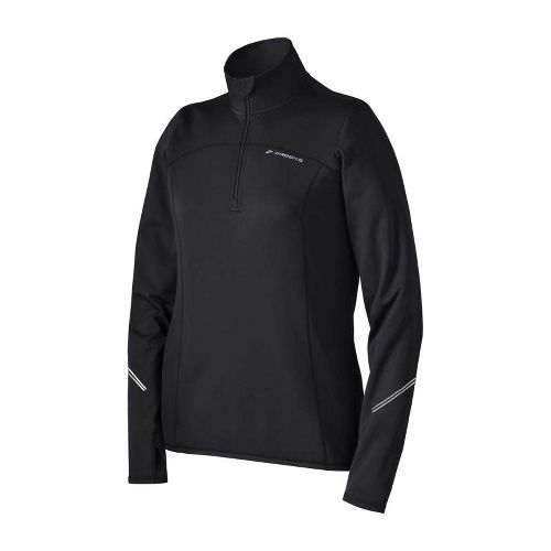 Womens Brooks Utopia Thermal Long Sleeve 1/2 Zip Technical Tops - Black L