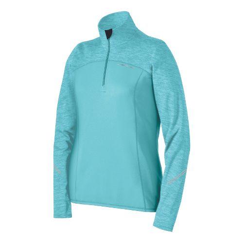 Womens Brooks Utopia Thermal Long Sleeve 1/2 Zip Technical Tops - Helium XS
