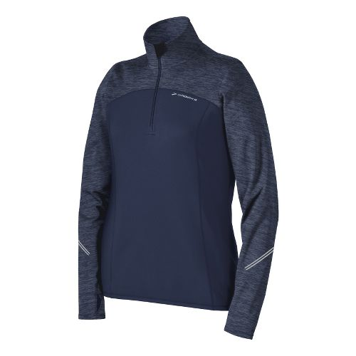 Womens Brooks Utopia Thermal Long Sleeve 1/2 Zip Technical Tops - Midnight M