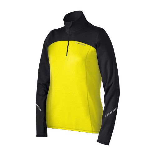 Womens Brooks Utopia Thermal Long Sleeve 1/2 Zip Technical Tops - Nightlife M