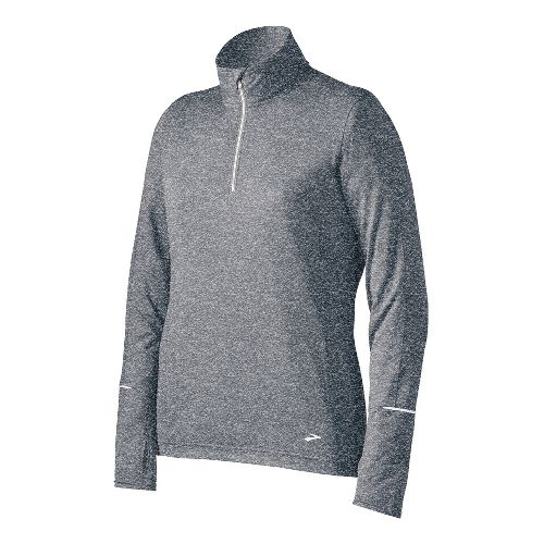 Womens Brooks Essential Long Sleeve 1/2 Zip Technical Tops - Anthracite M