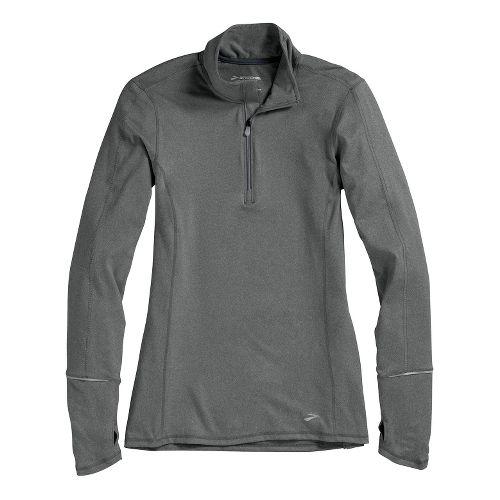 Womens Brooks Essential Long Sleeve 1/2 Zip Technical Tops - Mako L
