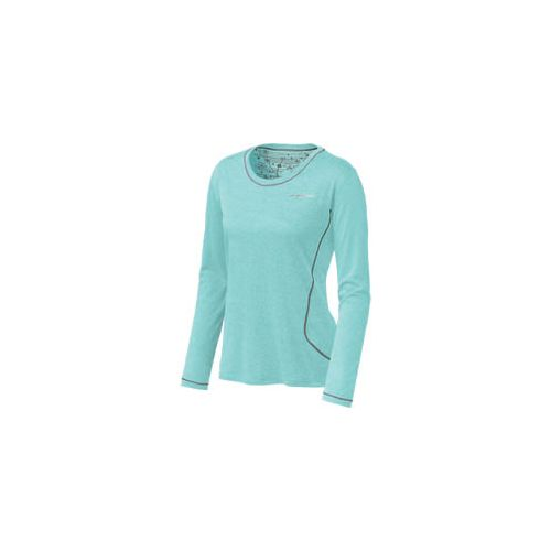 Womens Brooks Versatile EZ Long Sleeve No Zip Technical Tops - Tropic S