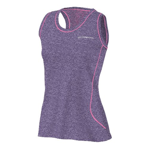 Womens Brooks Versatile EZ Racer Back Tanks Technical Tops - Eggplant XS