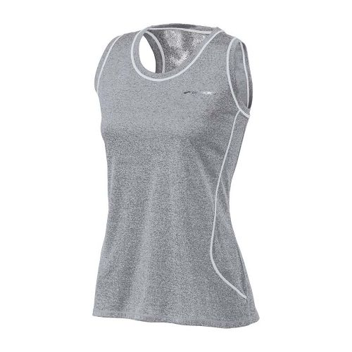 Womens Brooks Versatile EZ Racer Back Tanks Technical Tops - Heather Grey XL