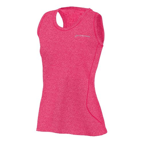 Womens Brooks Versatile EZ Racer Back Tanks Technical Tops - Pomegranate/Bright Pink XS