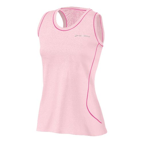 Womens Brooks Versatile EZ Racer Back Tanks Technical Tops - Petal M