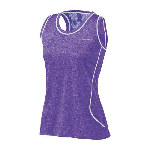 Womens Brooks Versatile EZ Racer Back Tanks Technical Tops - Royal Purple S