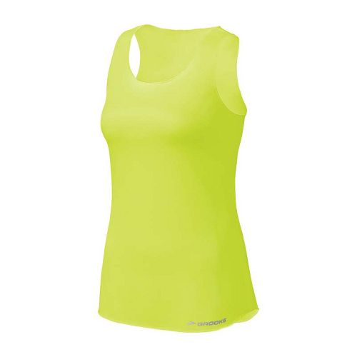 Womens Brooks D'lite Mesh Tank Tanks Technical Tops - Citron XS