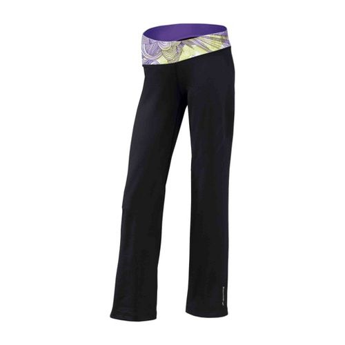 Womens Brooks Glycerin III Warm-Up Pants - Black/Citron Print XL
