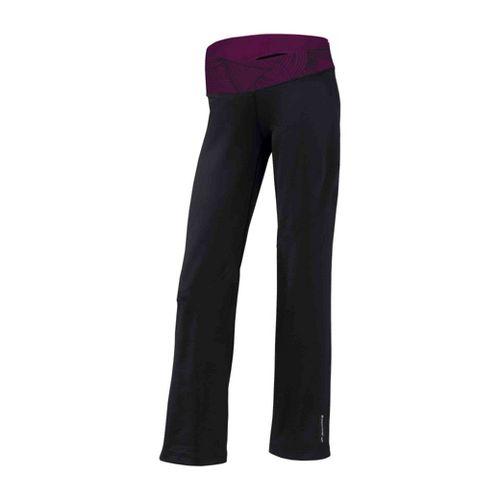Womens Brooks Glycerin III Warm-Up Pants - Black/Plum Print XS