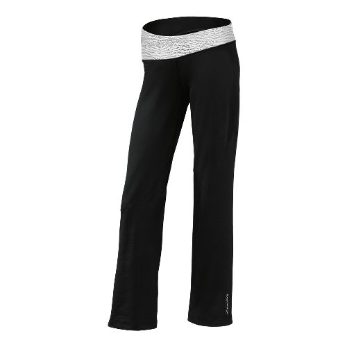 Womens Brooks Glycerin III Warm-Up Pants - Black/White Mist Print XL