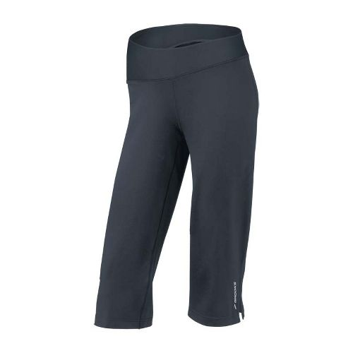 Womens Brooks Glycerin III Capri Pants - Anthracite L