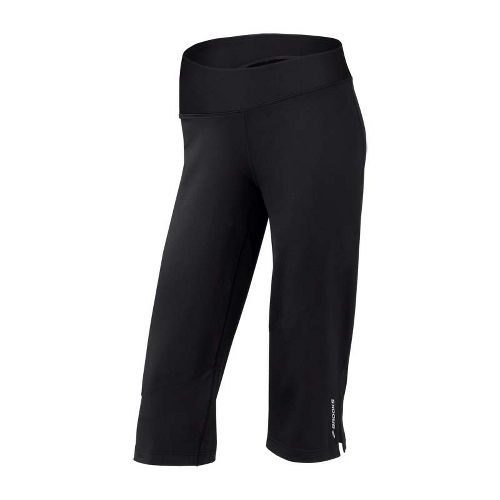 Womens Brooks Glycerin III Capri Pants - Black L