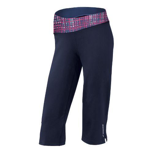 Womens Brooks Glycerin III Capri Pants - Midnight/Midnight Hatch XL