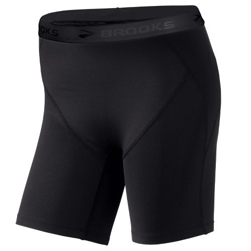 Womens Brooks Thermo Boy Short Fitted Shorts - Black L