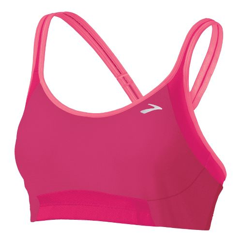 Womens Brooks Infiniti A/B Sports Bras - Pomegranate/Bright Pink M