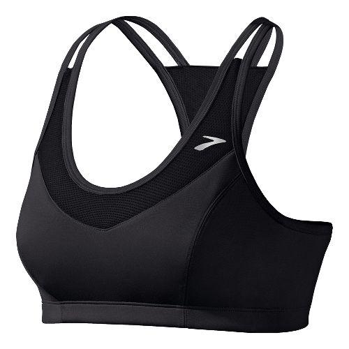 Womens Brooks Epiphany II Sports Bras - Black L