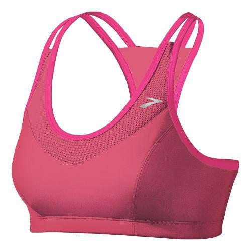 Womens Brooks Epiphany II Sports Bras - Pomegranate/Bright Pink M