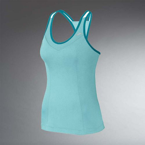 Womens Brooks Epiphany Support Tank II Sport Top Bras - Tropic/Tourmaline S