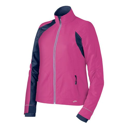 Womens Brooks Nightlife III Outerwear Jackets - Brite Pink/Midnight L