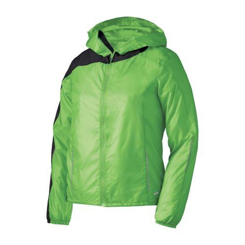 Womens Brooks Nightlife LSD Lite III Outerwear Jackets - Brite Green M