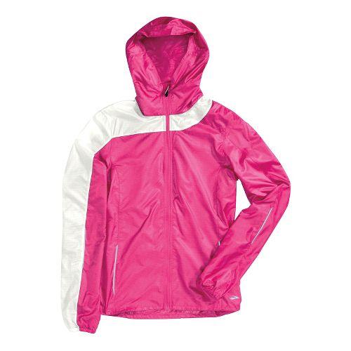 Womens Brooks Nightlife LSD Lite III Outerwear Jackets - Brite Pink/White M