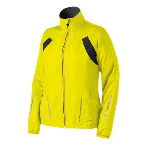 Womens Brooks Essential Run II Outerwear Jackets - Nightlife M