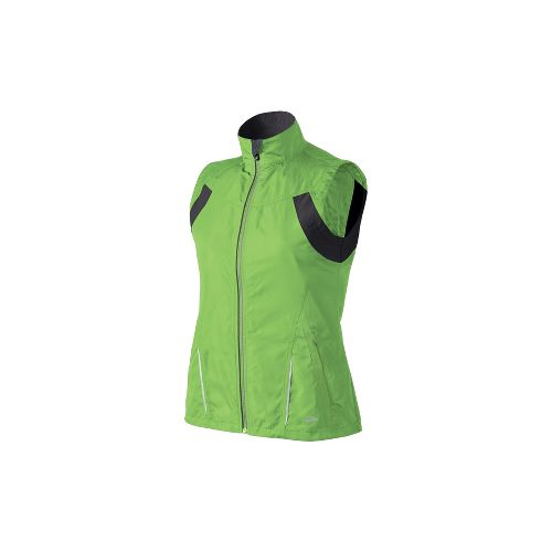 Womens Brooks Essential Run II Outerwear Vests - Brite Green L