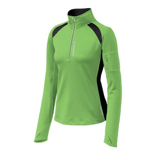 Womens Brooks Nightlife Infiniti 1/2 Zip II Long Sleeve 1/2 Zip Technical Tops - Brite ...