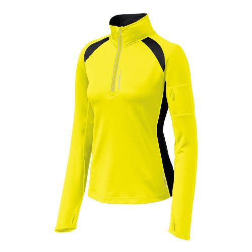 Womens Brooks Nightlife Infiniti 1/2 Zip II Long Sleeve 1/2 Zip Technical Tops - Nightlife ...