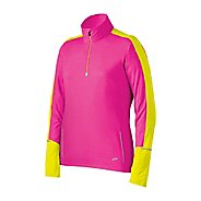 Womens Brooks Nightlife Essential LS 1/2 Zip Long Sleeve 1/2 Zip Technical Tops