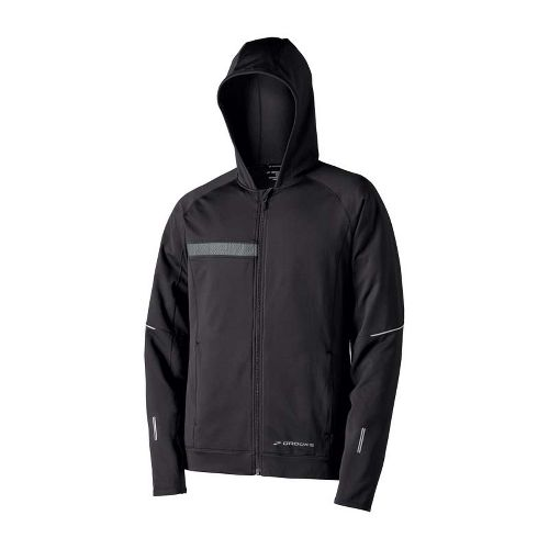 Mens Brooks Utopia Thermal Hooded Outerwear Jackets - Black M