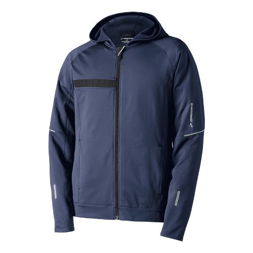 Mens Brooks Utopia Thermal Hooded Outerwear Jackets - Midnight S