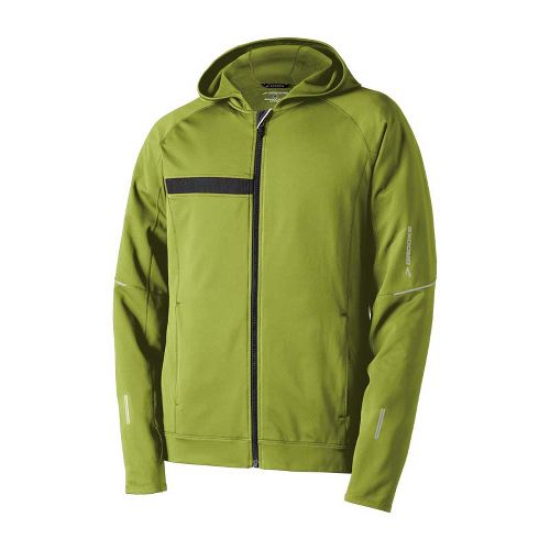 Mens Brooks Utopia Thermal Hooded Outerwear Jackets - Moss XXS